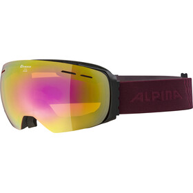 Alpina Granby HM Occhiali Maschera, black-cassis/pink